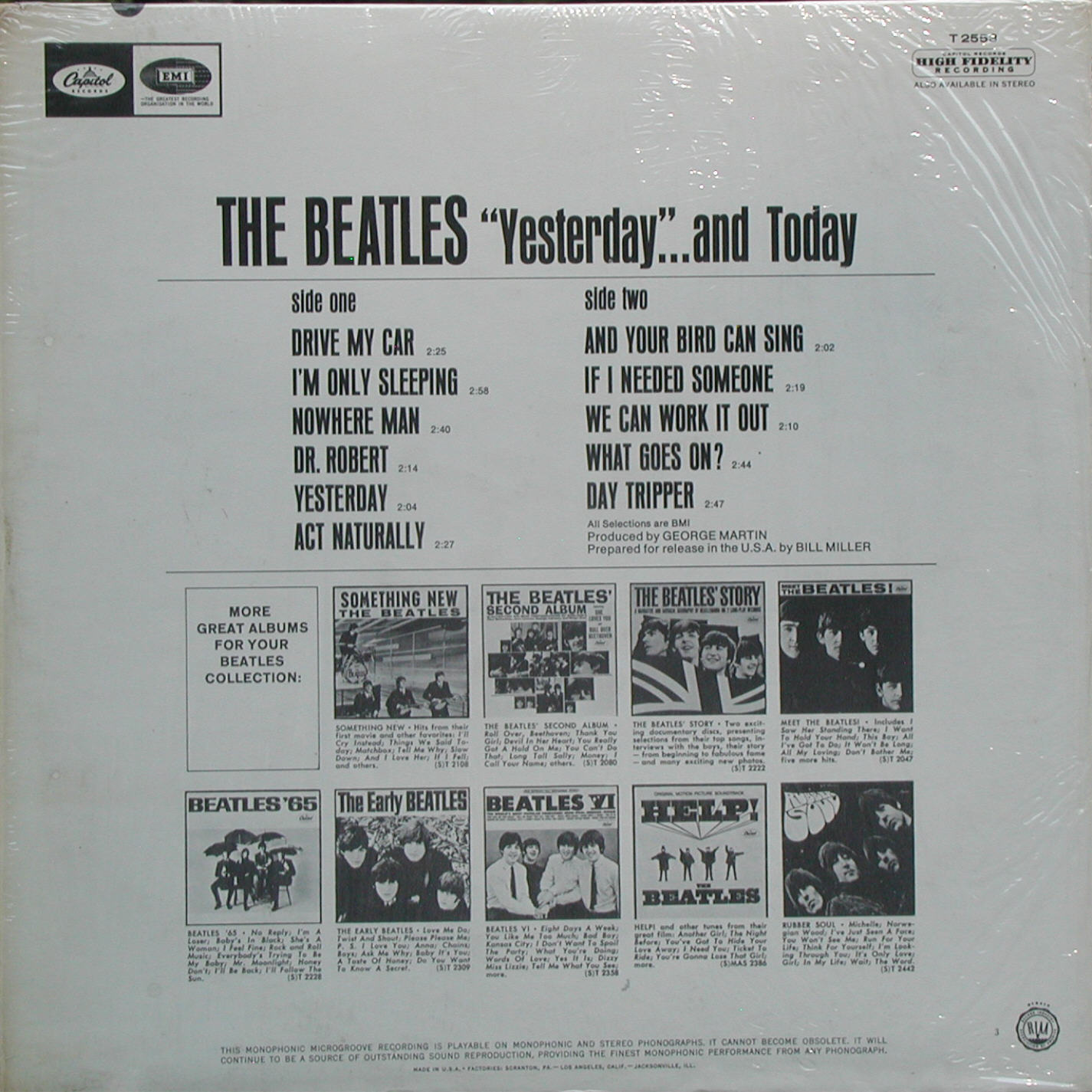 Capitol T 2553 Trunk Jacket Beatles Price Guide by McLenson