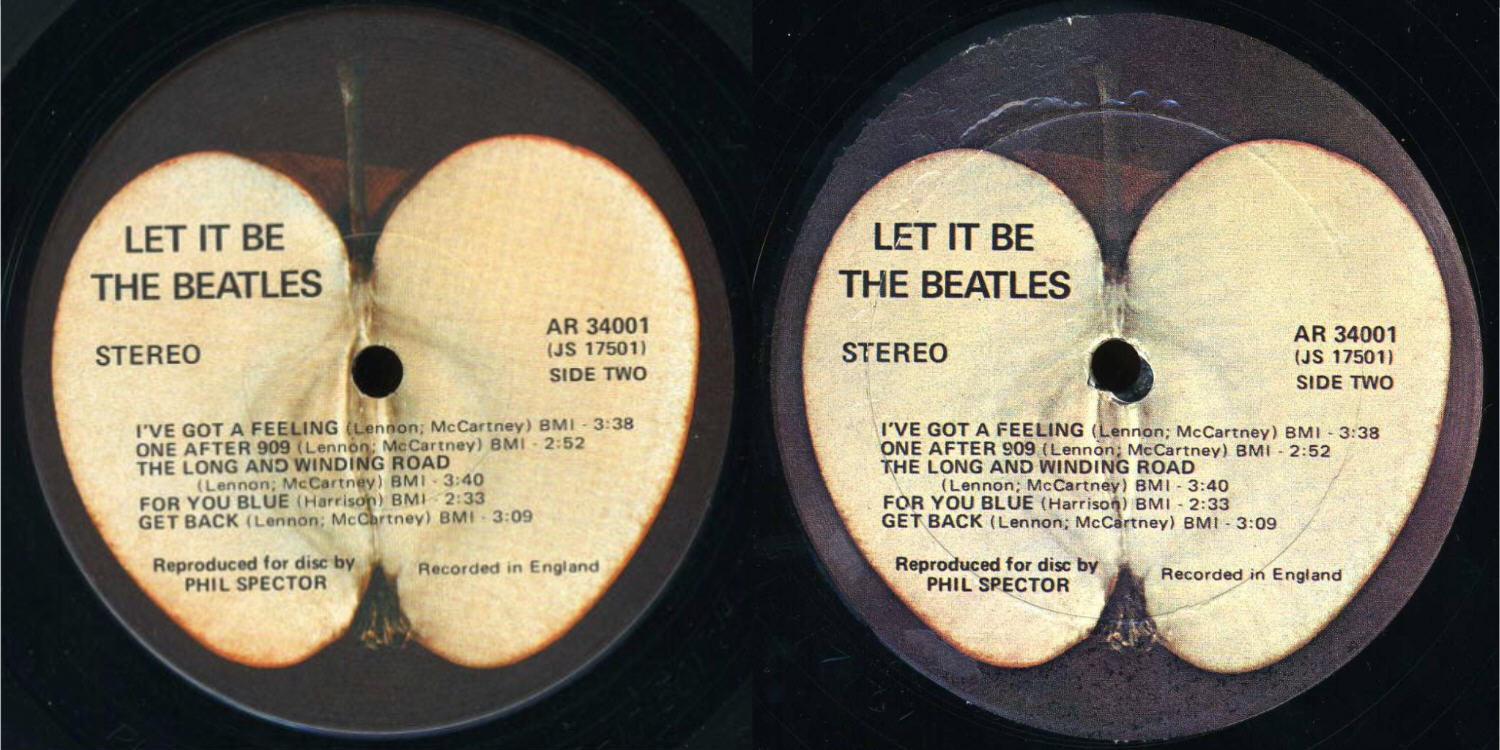 Apple AR 34001 Labels Counterfeit Beatles Price Guide
